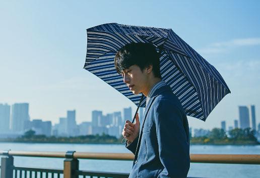 3秒で折りたためる傘「urawaza」メンズ雨傘